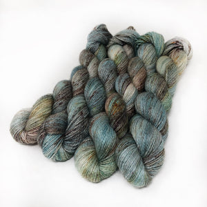 Frost Flowers - Alpaca Linen Silk DK weight 2 Ply
