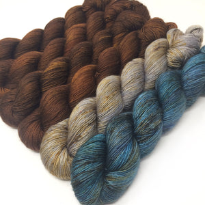 Bark - 70/30 merino silk single ply