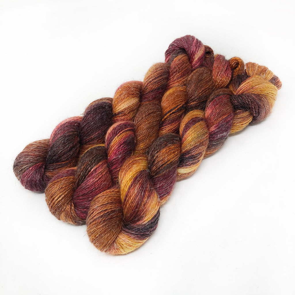Autumn Beauty - Alpaca Linen Silk DK weight 2 Ply