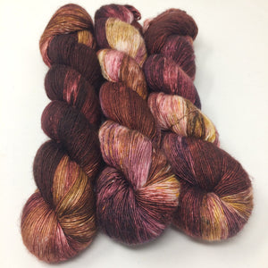 Pomegranate - 70/30 merino silk single ply