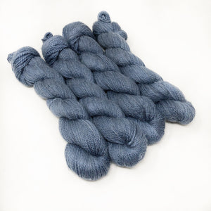 Ice Blue - Alpaca Linen Silk DK weight 2 Ply