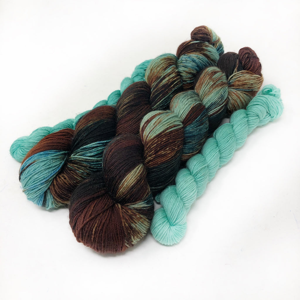 Shipwrecked - sock yarn with mini