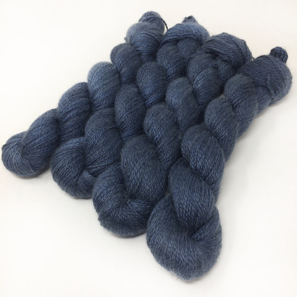 Dark Night - Alpaca Linen Silk DK weight 2 Ply