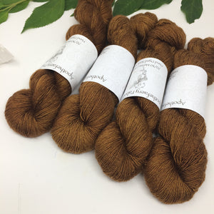 Pecan - 70/30 merino silk single ply