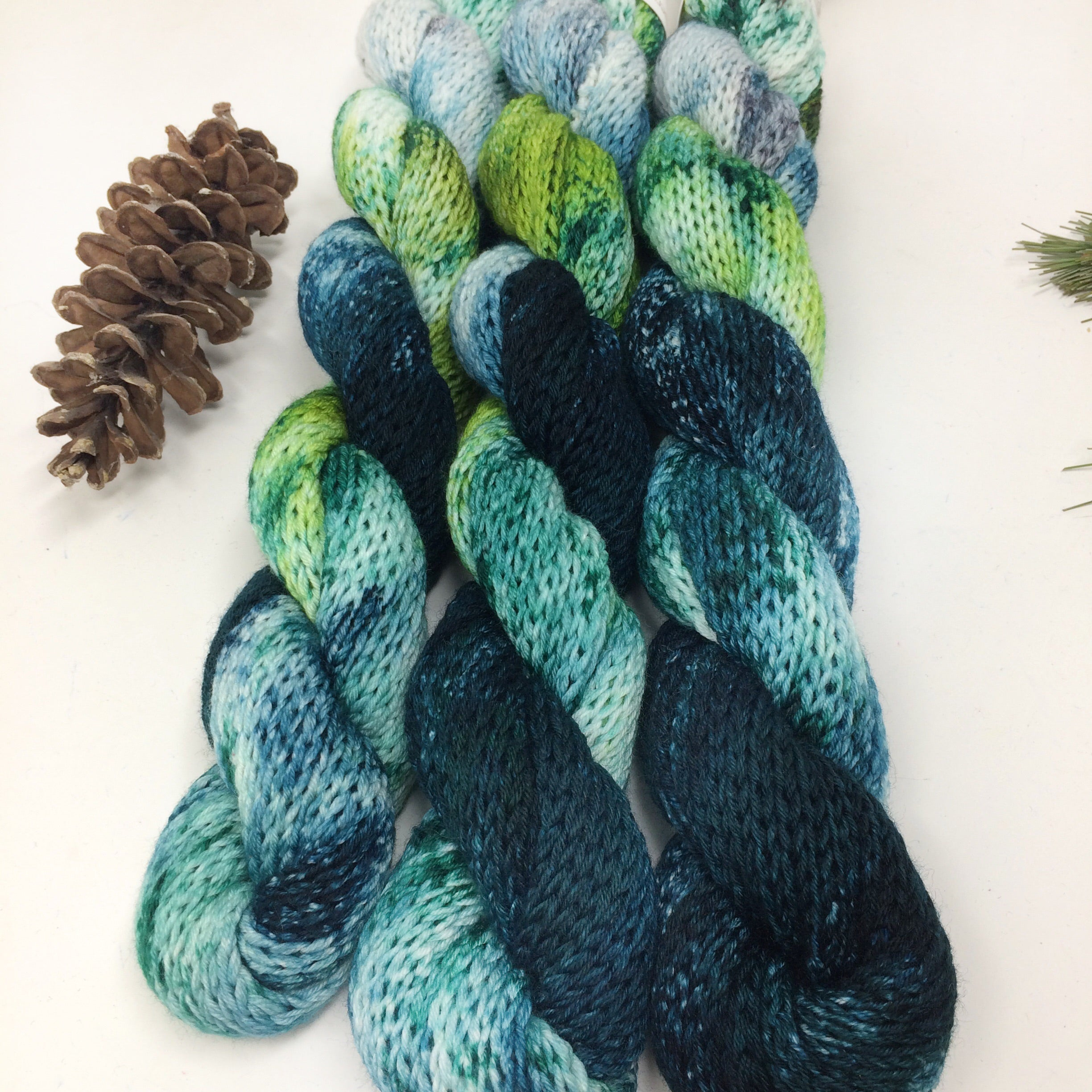 Frozen Pine - double knit sock blanks - matching socks or wrist warmers