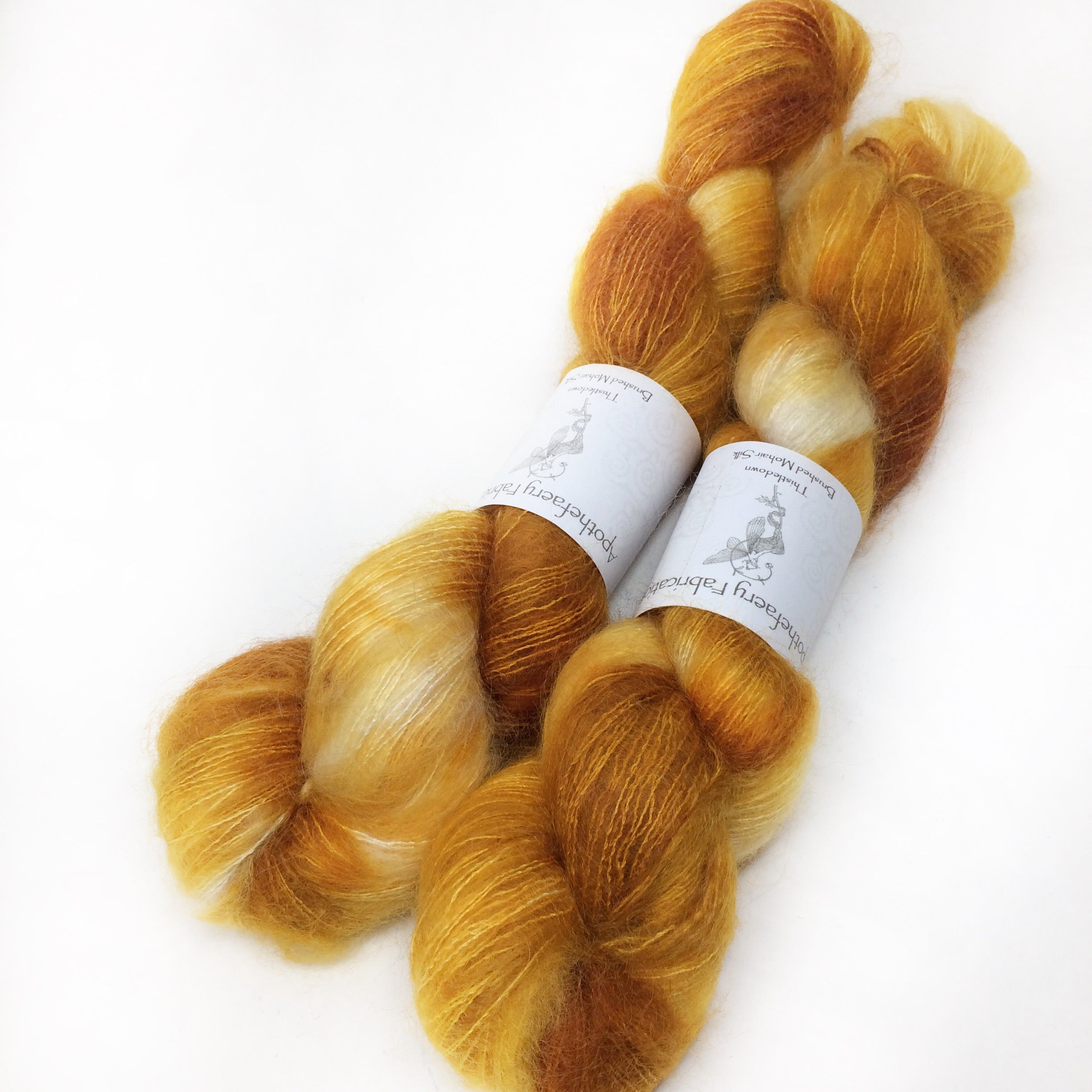 Ray of Sunshine - brushed mohair and silk laceweight