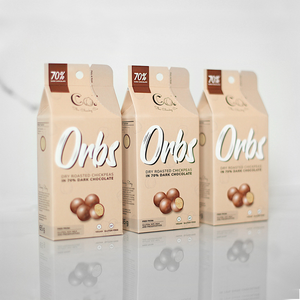 Orbs -Dry Roasted Chickpeas In 70% Dark Chocolate - 65g