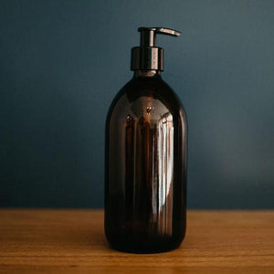 Glass Pump Bottle - Brown