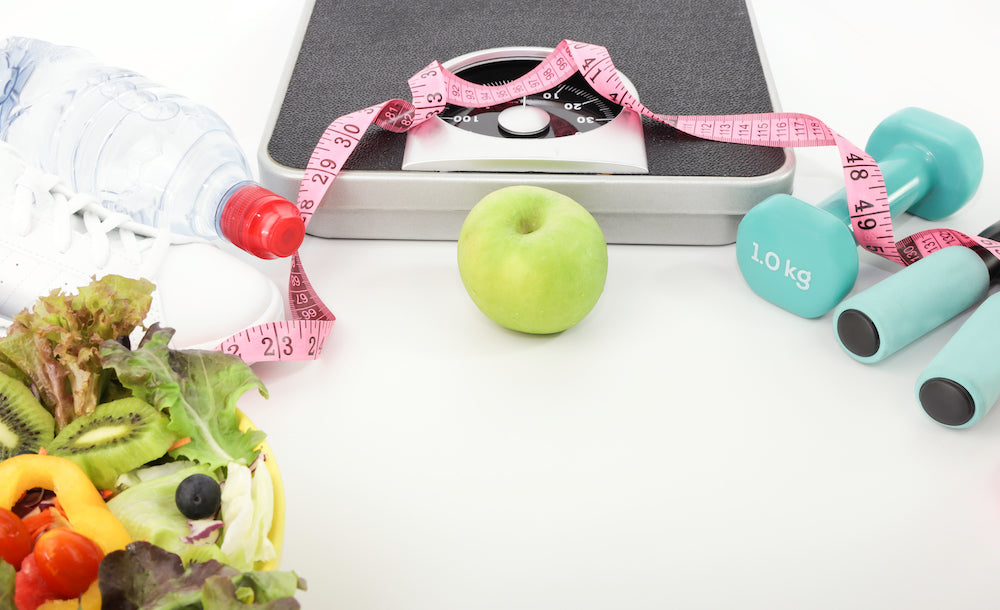 healthy food and weight loss tools
