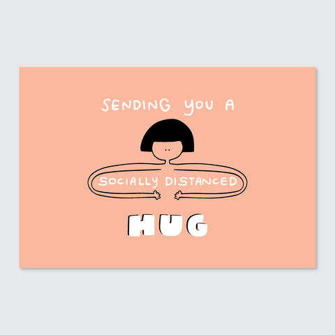 Sending You a Socially Distanced Hug Postcard
