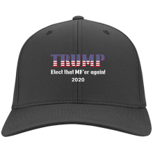 Load image into Gallery viewer, Charcoal Grey Trump Elect That MF'er Again 2020 Hat