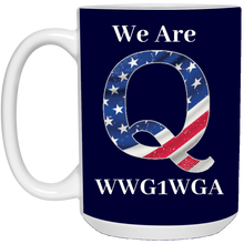 Load image into Gallery viewer, Navy Blue We Are Q WWG1WGA Mug