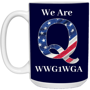 Navy Blue We Are Q WWG1WGA Mug