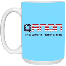 Load image into Gallery viewer, Light Blue Qanon The Great Awakening Mug