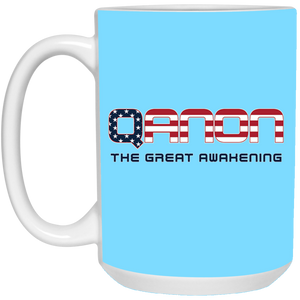 Light Blue Qanon The Great Awakening Mug