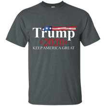 Load image into Gallery viewer, Charcoal Grey Trump 2020 Keep America Great T-shirt