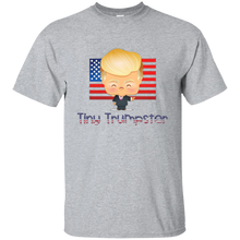 Load image into Gallery viewer, Grey Trump Tiny Trumpster Kids T-shirt