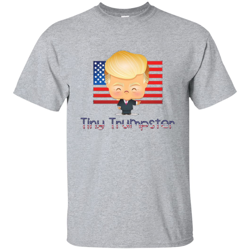 Grey Trump Tiny Trumpster Kids T-shirt
