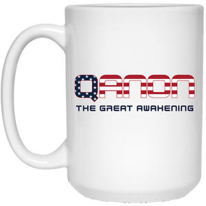 White Qanon The Great Awakening Mug