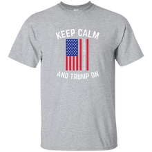 Load image into Gallery viewer, Grey Keep Calm-Trump On Trump T-shirt