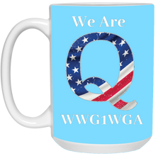 Load image into Gallery viewer, Light Blue We Are Q WWG1WGA Mug