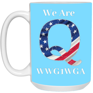 Light Blue We Are Q WWG1WGA Mug