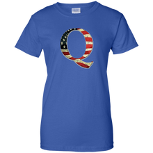 Load image into Gallery viewer, Royal Q American Flag Qanon/Q T-shirt