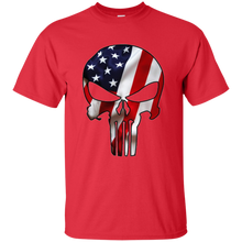 Load image into Gallery viewer, Red American Flag Skull T-shirt