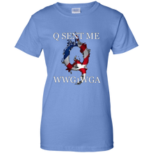 Load image into Gallery viewer, QAnon Q Sent Me WWG1WGA Women's T-Shirt