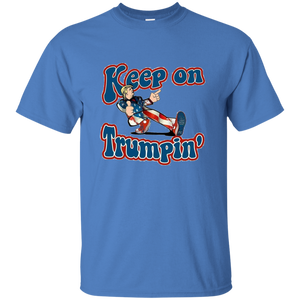 Blue Trump Keep On Trumpin Kids T-shirt