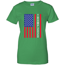 Load image into Gallery viewer, Green Trump 2020 Flag Women's T-shirt