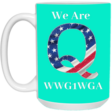 Load image into Gallery viewer, Turquoise We Are Q WWG1WGA Mug