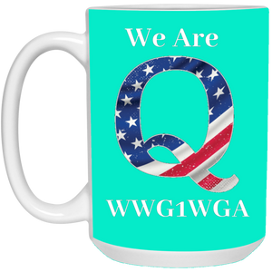 Turquoise We Are Q WWG1WGA Mug