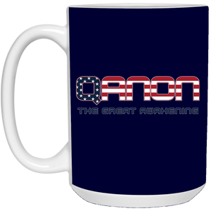 Navy Blue Qanon The Great Awakening Mug