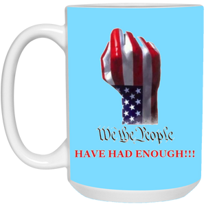 Light Blue We The People Ceramic Mug
