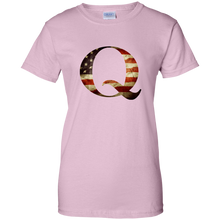 Load image into Gallery viewer, Qanon American Flag Q Women's T-Shirt