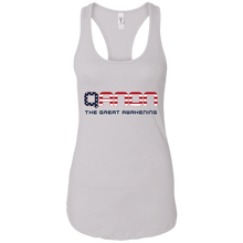Load image into Gallery viewer, White Qanon The Great Awakening Tank Top