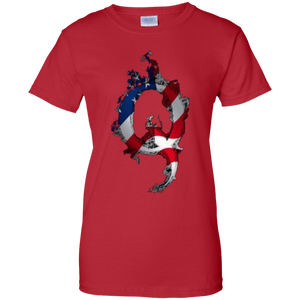 Red American Flag Flame Qanon/Q T-shirt