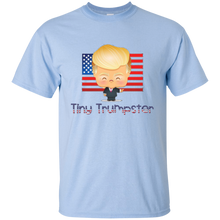 Load image into Gallery viewer, Light Blue Trump Tiny Trumpster Kids T-shirt