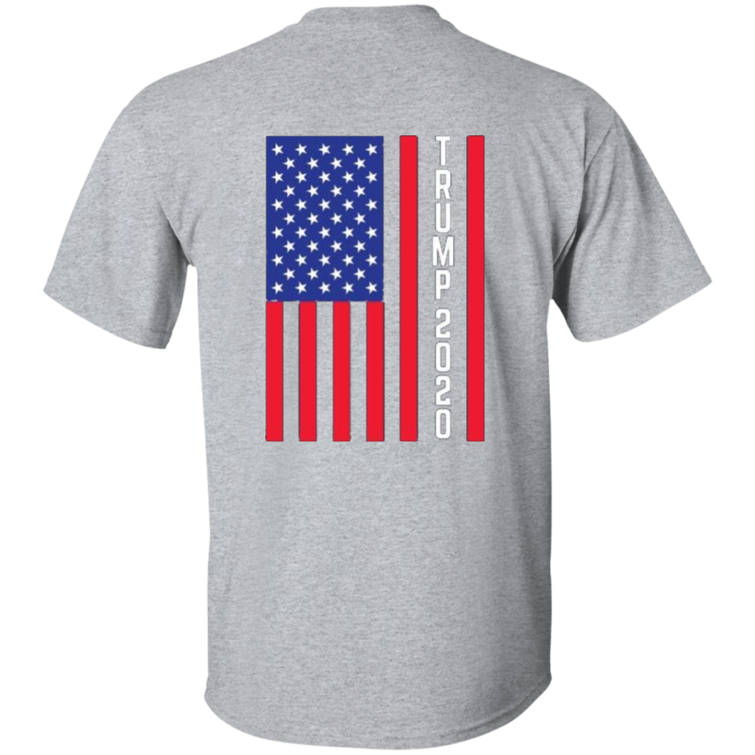 Grey Trump 2020 Flag Men's T-shirt