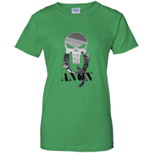Load image into Gallery viewer, Green Qanon Punisher Skull T-shirt
