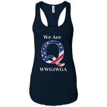 Load image into Gallery viewer, Navy Blue We Are Q WWG1WGA Tank Top