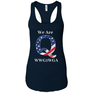Navy Blue We Are Q WWG1WGA Tank Top