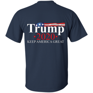 Navy Blue Trump 2020 Keep America Great T-shirt