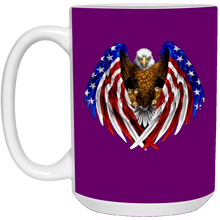 Load image into Gallery viewer, Purple American Flag Eagle Wings Mug