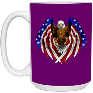 Purple American Flag Eagle Wings Mug