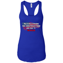 Load image into Gallery viewer, Royal Blue Trump - No Collusion No Obstruction No Sh*t MAGA Tank Top