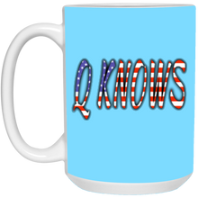 Load image into Gallery viewer, Light Blue Q KNOWS Ceramic Mug