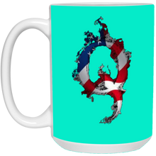 Load image into Gallery viewer, Turquoise American Flag Flame Qanon/Q Mug