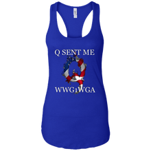 Load image into Gallery viewer, Royal Blue Q Sent Me WWG1WGA Q/Qanon Tank Top